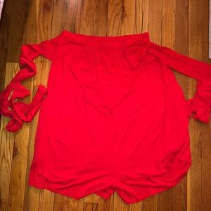 Free People Red Convertible Redondo Romper